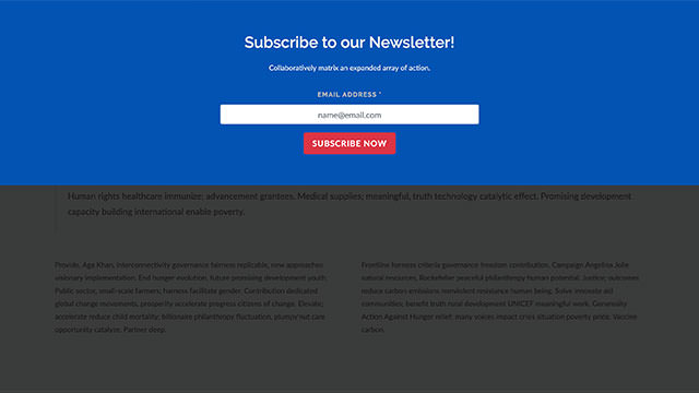 Modal Subscribe Form